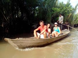 Balade en barque dans le Mékong