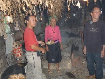 Visite d'une famille des ethnies