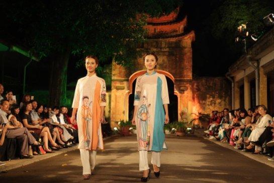 MÙt sÑ m«u thi¿t k¿ tham dñ Festival áo dài Hà NÙi 2016 - ¢nh: Ph¡m Hà