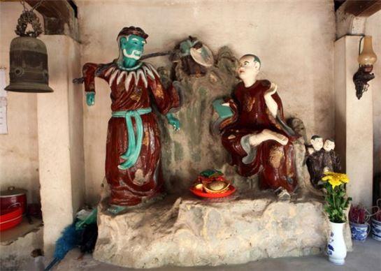 statue argile pagode nom