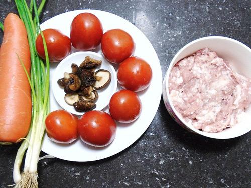 ingredient pour les tomates farcies